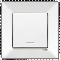 Выключатель 1 кл. с подсветкой белый Viko Meridian 90970019-WH