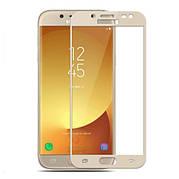 Защитное стекло Full Cover для Samsung j7 2017 Золотое