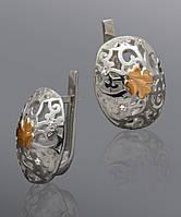 Серьги из серебра и золота Юрьев 252 с