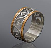 Женское кольцо с фианитами Юрьев 243к