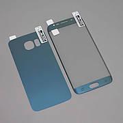 Защитная пленка 3D на Samsung S6 Edge Front+Back Blue