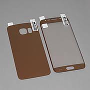 Защитная пленка 3D на Samsung S6 Edge Front+Back Rose-Gold