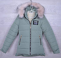 """Куртка подростковая зимняя """"Aape"""" для девочек. 10-15 лет. Мятная. Оптом."""