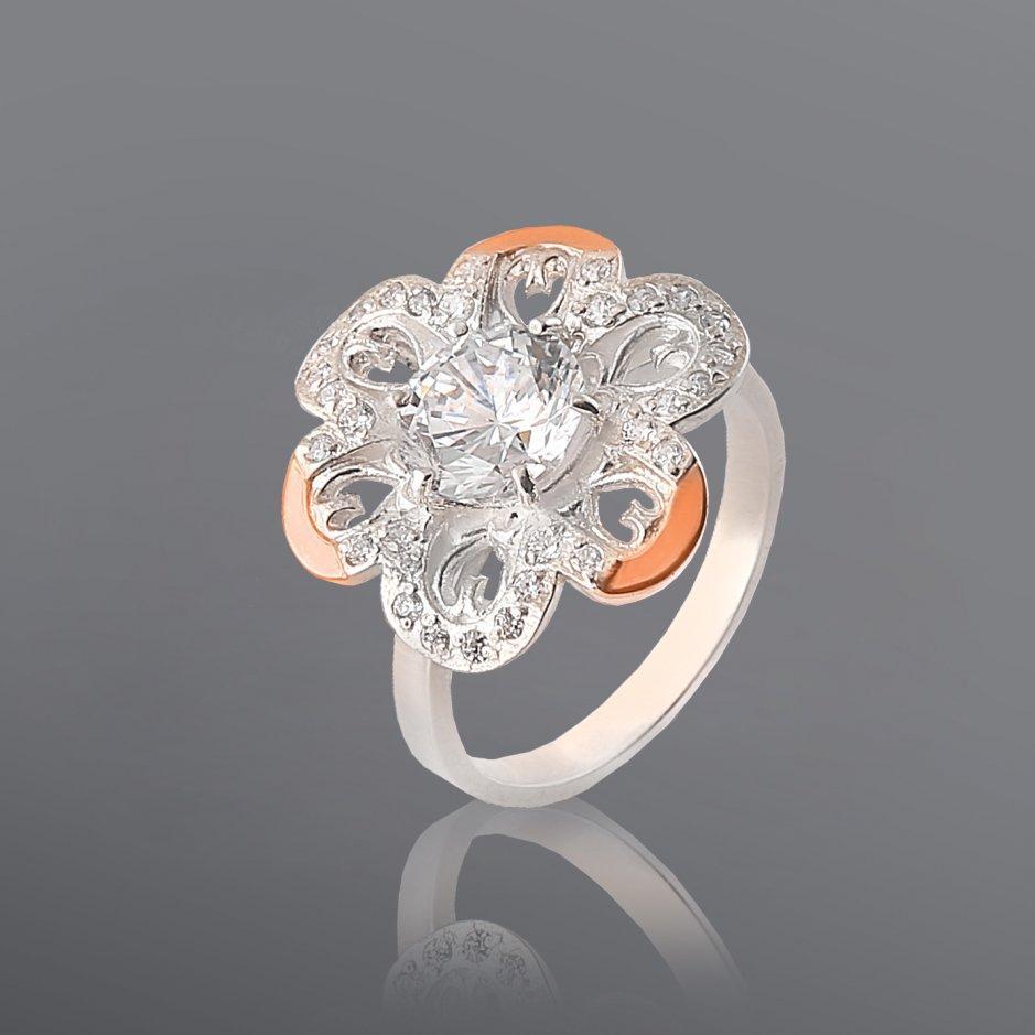 Кольцо из серебра и золота Юрьев 277к 17.5