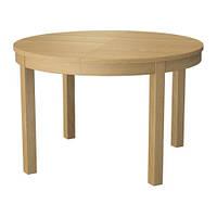 Раздвижной стол, дубовый шпон  BJURSTA