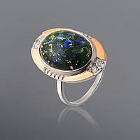 Серебряное кольцо с опалом Юрьев 297к