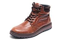 Зимние ботинки Multi Shoes, мужские, рыжие, натуральная кожа, р. 40 41 42 43 44 45