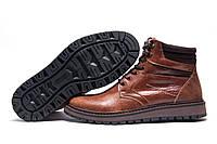 Зимние ботинки Multi Shoes, мужские, рыжие, натуральная кожа, р. 40 41 45