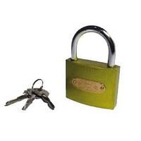 16-02 Замок навесной желтой крестовой ключ 38 мм