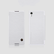 Кожаный чехол (книжка) Nillkin Qin Series на Sony XA1 White