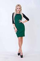 Женское платье-футляр с рукавами 3/4 (зеленое) Love KAN № 0209