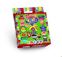 "Набор для творчества ""Тесто для лепки ""Master Do"", 12 цветов, в коробке 16*12*2см."