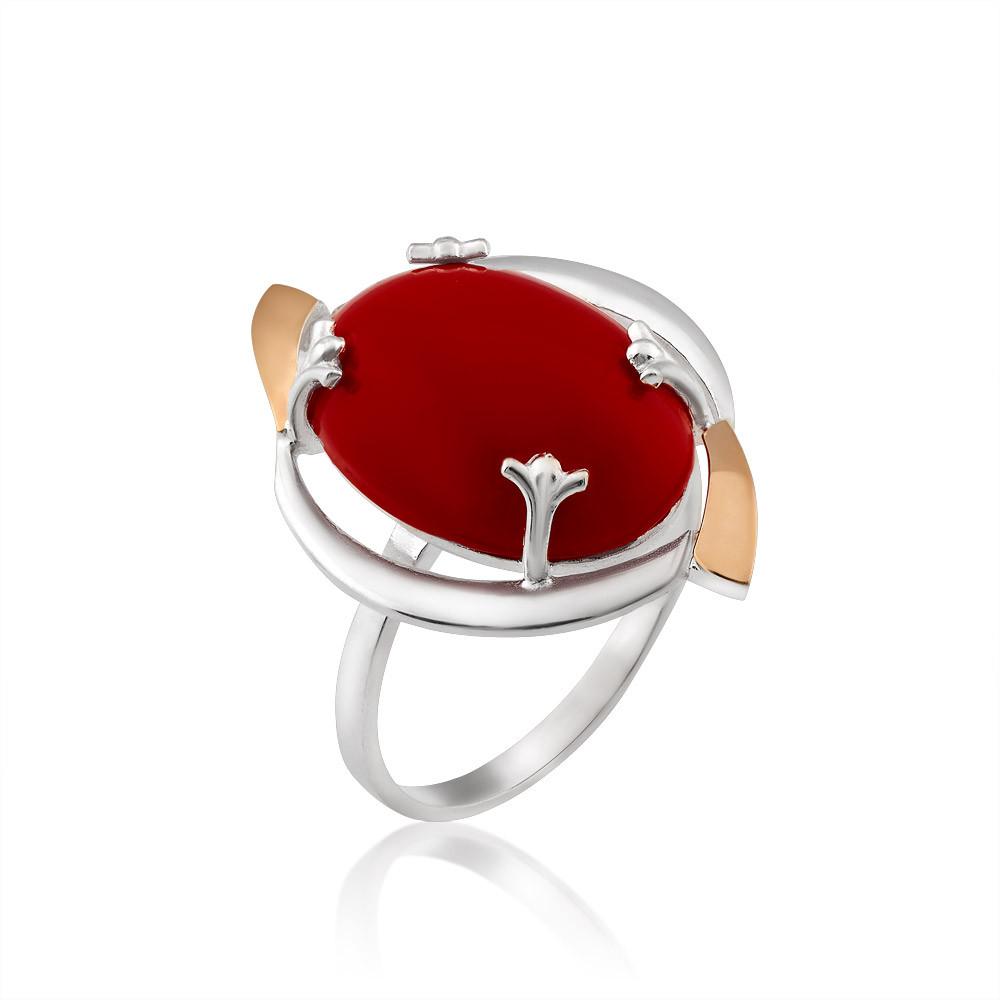Кольцо с кораллом Юрьев 390к