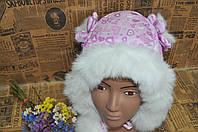 Болоньевая шапочка. Мех 1-2 года