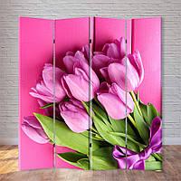 """Ширма декоративная """"Розовые тюльпаны"""", фото 1"""