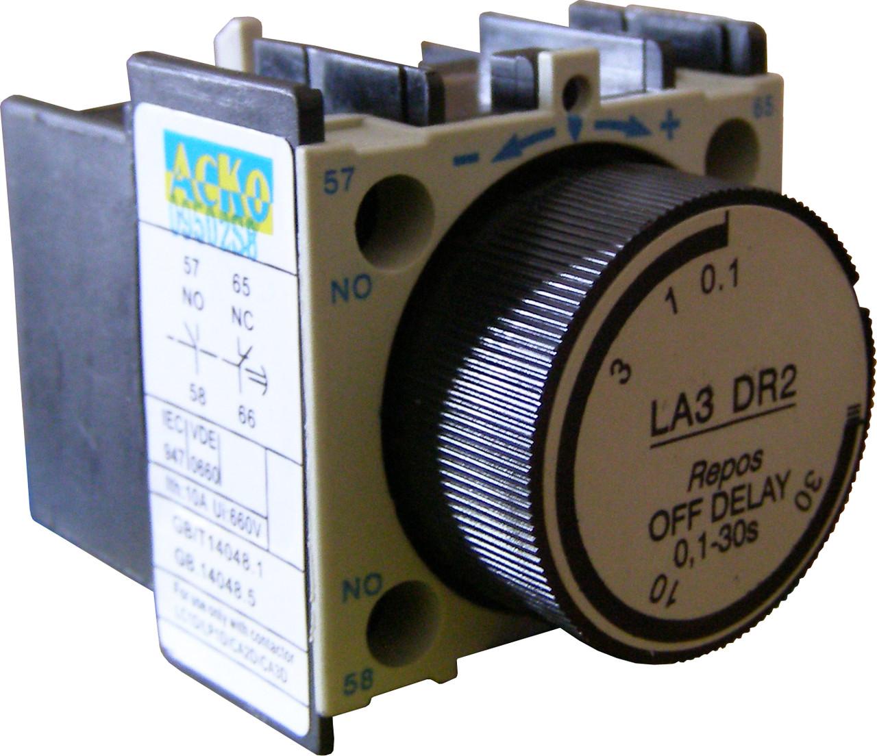 Блок задержки БЗ-12 (LA3-DR2) (0,1-30,0с Выкл)
