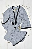 Комплект халат и сорочка, фото 1