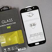 Защитное стекло 5D на Samsung A7 720 (2017) Black