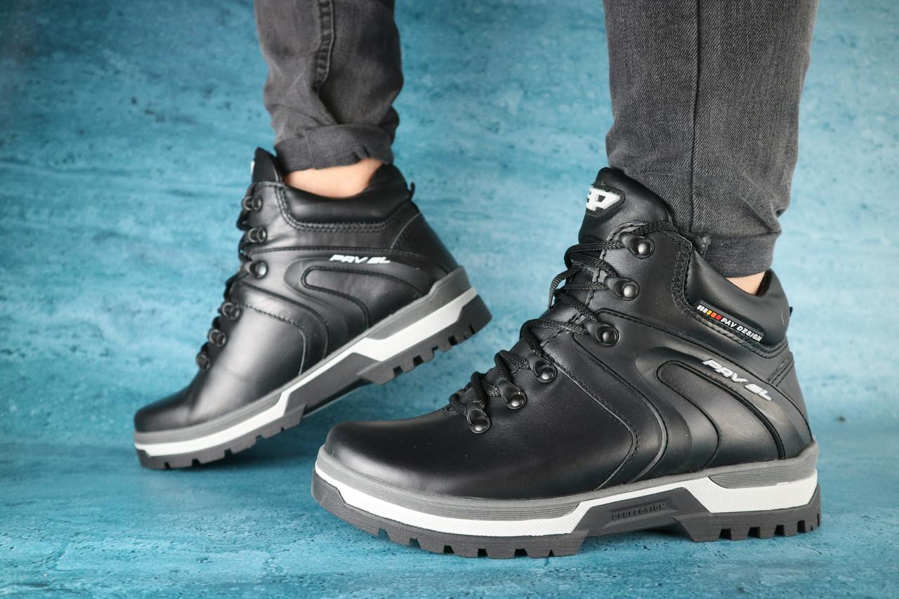 Мужские зимние ботинки PAV (черные), ТОП-реплика
