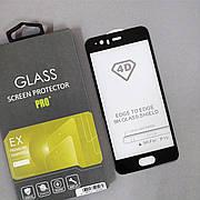 Защитное стекло 4D на Huawei P10 Black