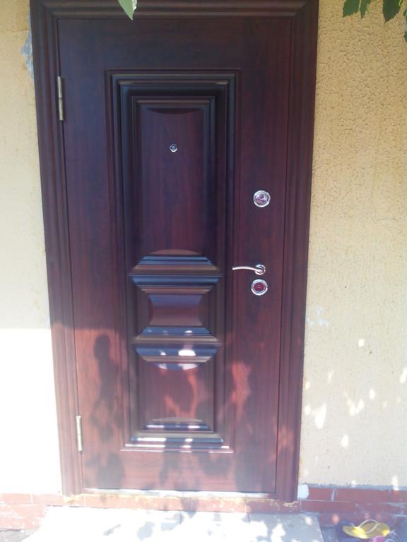 Установка двери с полотном 90мм