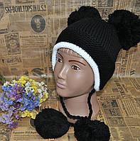 Детская шапка двойная вязка. Очень теплая