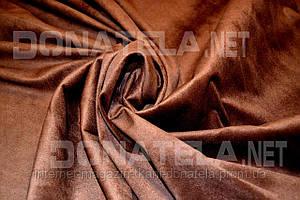 Замша исскуственная тёмно-коричневый