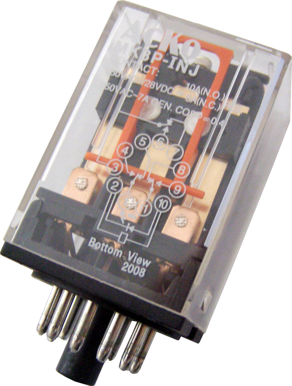 Реле электромагнитное промежуточное переменного  тока МК3P (AC 110 V)
