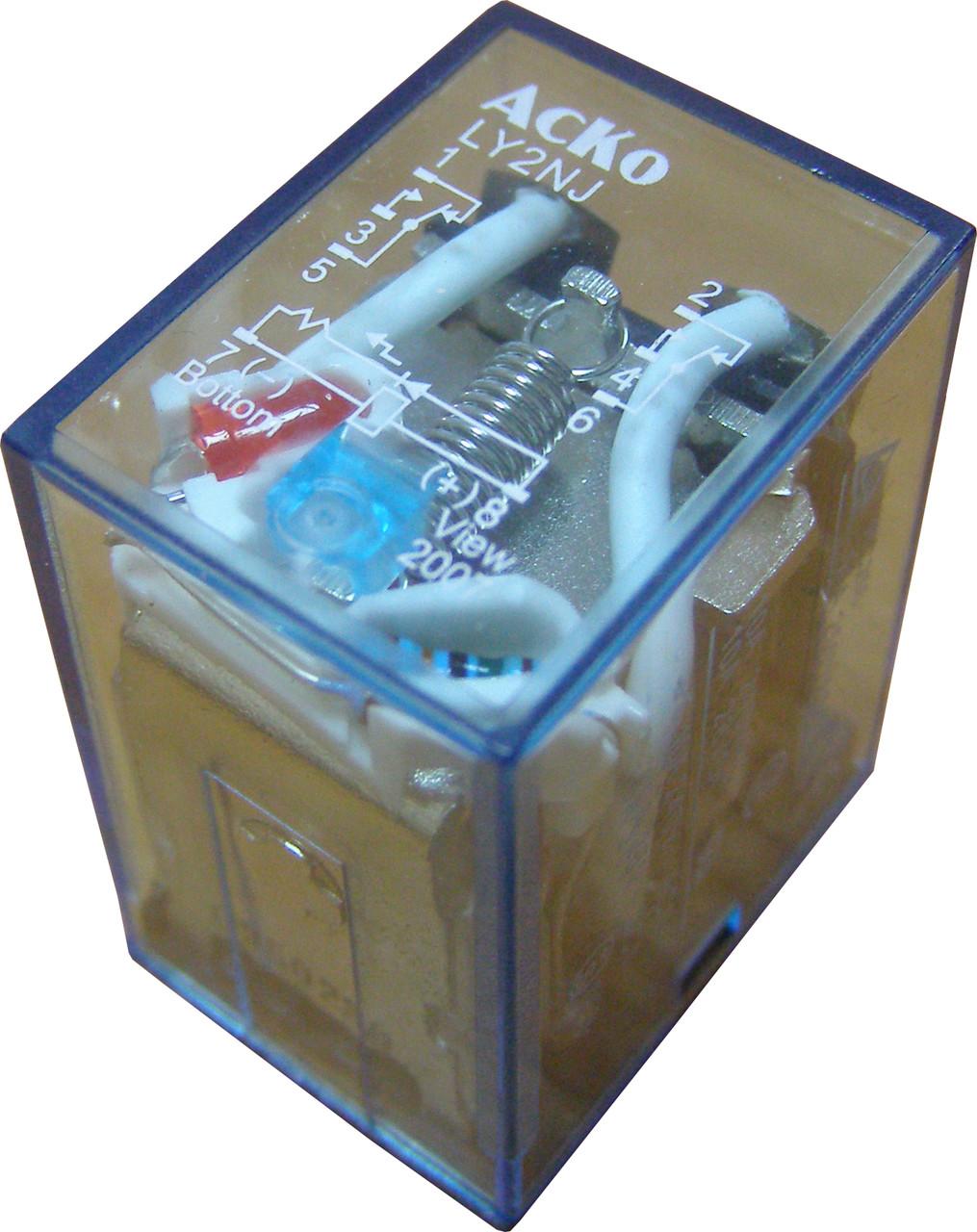 Реле электромагнитное промежуточное переменного  тока LY2 (АС 24 V)
