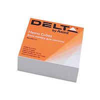 Блок бумаги для записей, белый, клеенный, 80*80*20 мм, 200 листов, Delta by Axent, D8002, 13924