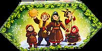 """Упаковка рождественская """"Цукерка колядники"""" для сладостей 150-200г новогодняя"""