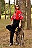 Яркая женская вышитая рубашка на День Вышиванки Ж10/2-261