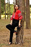 Яркая женская вышитая рубашка на День Вышиванки Ж10/2-261, фото 1