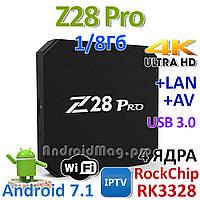 TV приставка Z28 pro RK3328 4 ядра Android 7.1