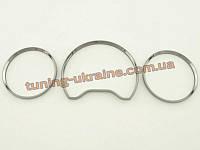 Алюминиевые рамки на приборы из пластика для Mercedes CLK W208 1997-2002