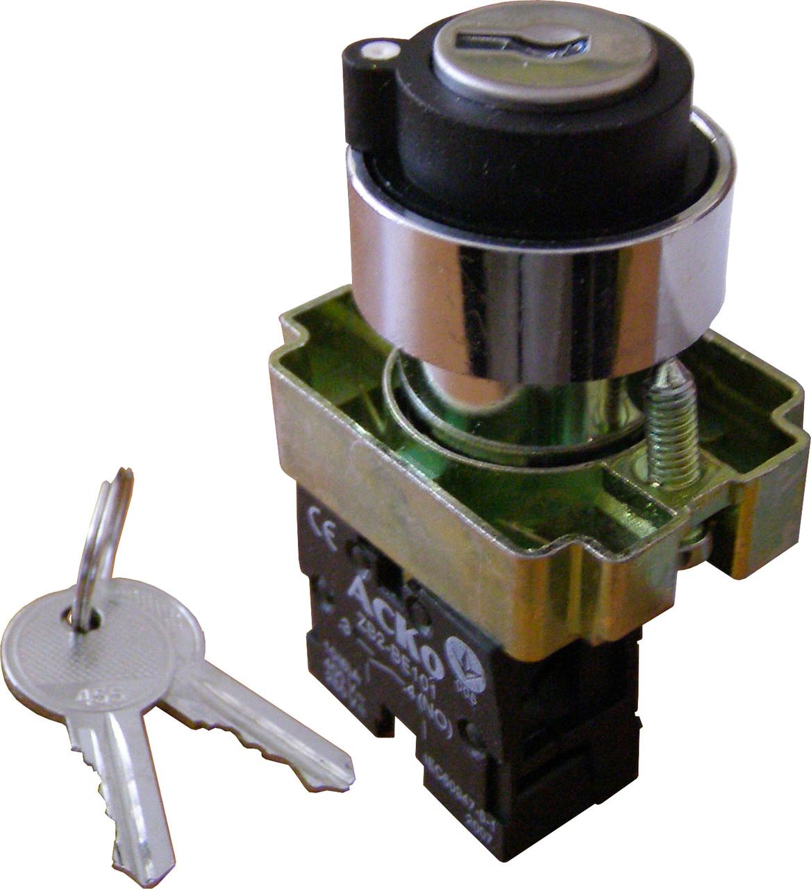 Кнопка поворотная с ключом 2-х позиционная  XB2-BG41