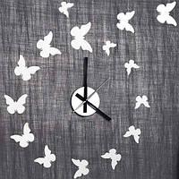 Часы декор наклейка бабочки с часами Feron NL24