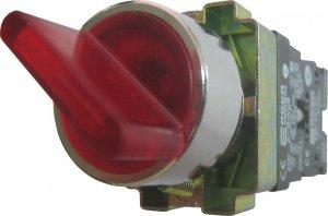 Кнопка красная поворотная 2-х поз. с подсветкой  XB2-BK2465