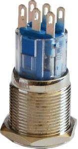 Кнопка металлическая 2NO+2NC TYJ 19-212