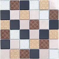 Мозаика Vivacer Декор Mix Beige 30x30/4.8x4.8
