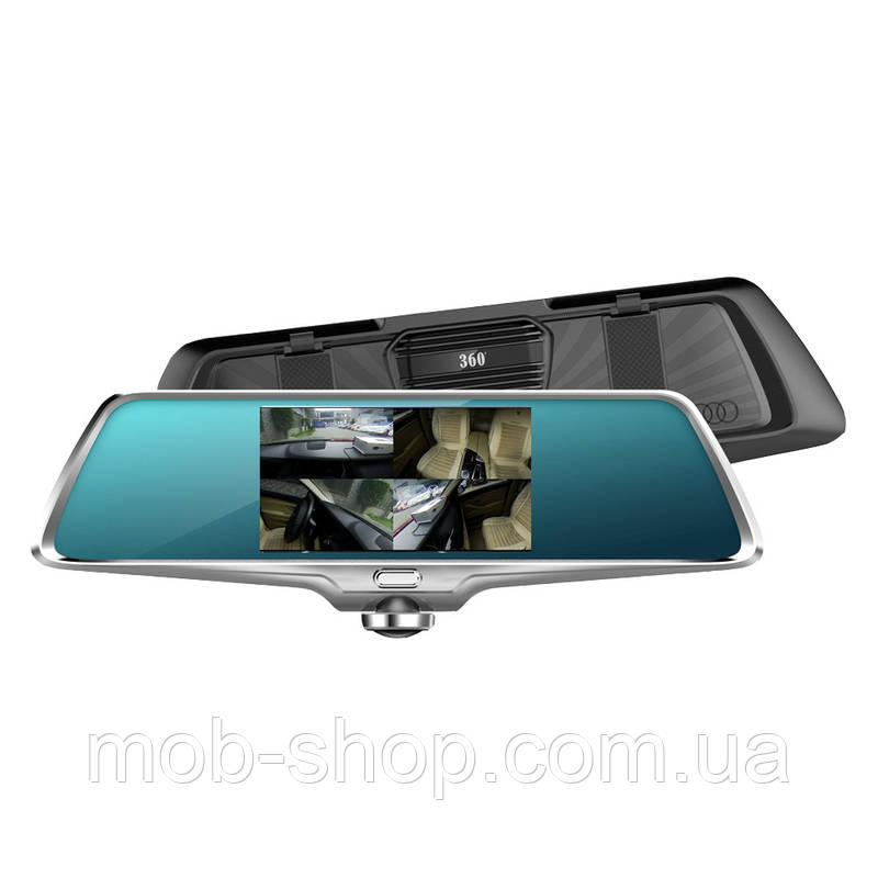 """Автомобильный регистратор-зеркало DVR K15 5"""" + камера заднего вида"""