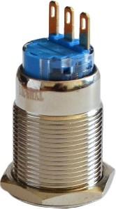 Кнопка металлическая с фиксацией 1NO+1NC TYJ  19-311