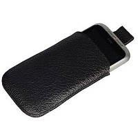 Чехол SB для HTC Wildfire S кожа чорная фактурная