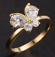 Кольцо бабочка, цвет-золото