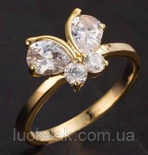Кільце метелик, колір-золото 7,75 USA