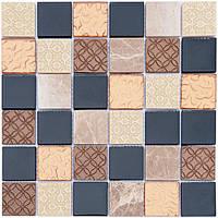 Мозаика Vivacer Декор Mix Bronze 30x30/4.8x4.8