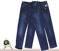 Джинсы мужские утеплённые классические Fangsida синего цвета на флисе 36 размер.