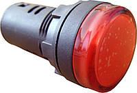 Светосигнальная арматура AD22-22DS красная  24V АC/DC