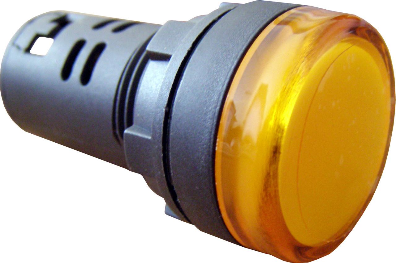 Светосигнальная арматура AD22-22DS желтая  24V АC/DC