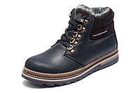 Зимние ботинки Trike, мужские, на меху, натуральная кожа, черные, р. 40 41 42